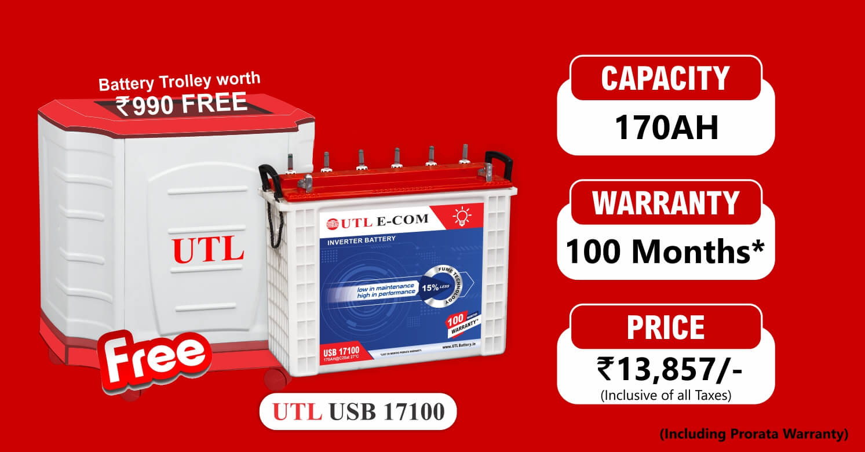 170AH Inverter Battery